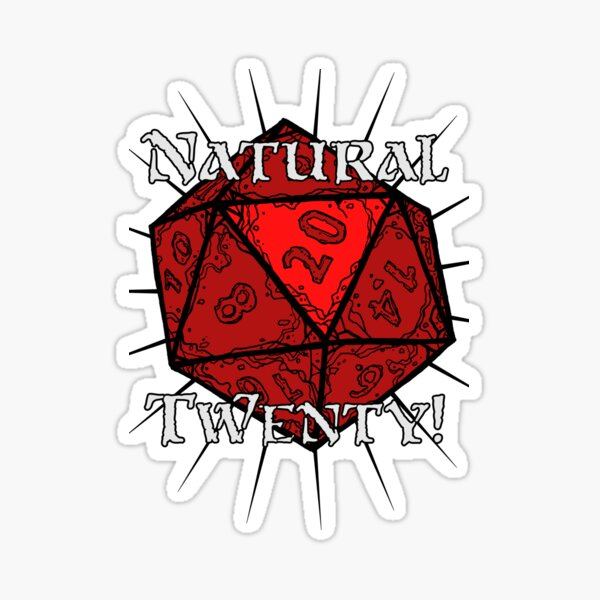 Natural 20! Red Edition Sticker