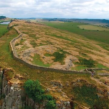 Aerial view of Hadrian's Wall Northumberland England UK by emergentdesigns