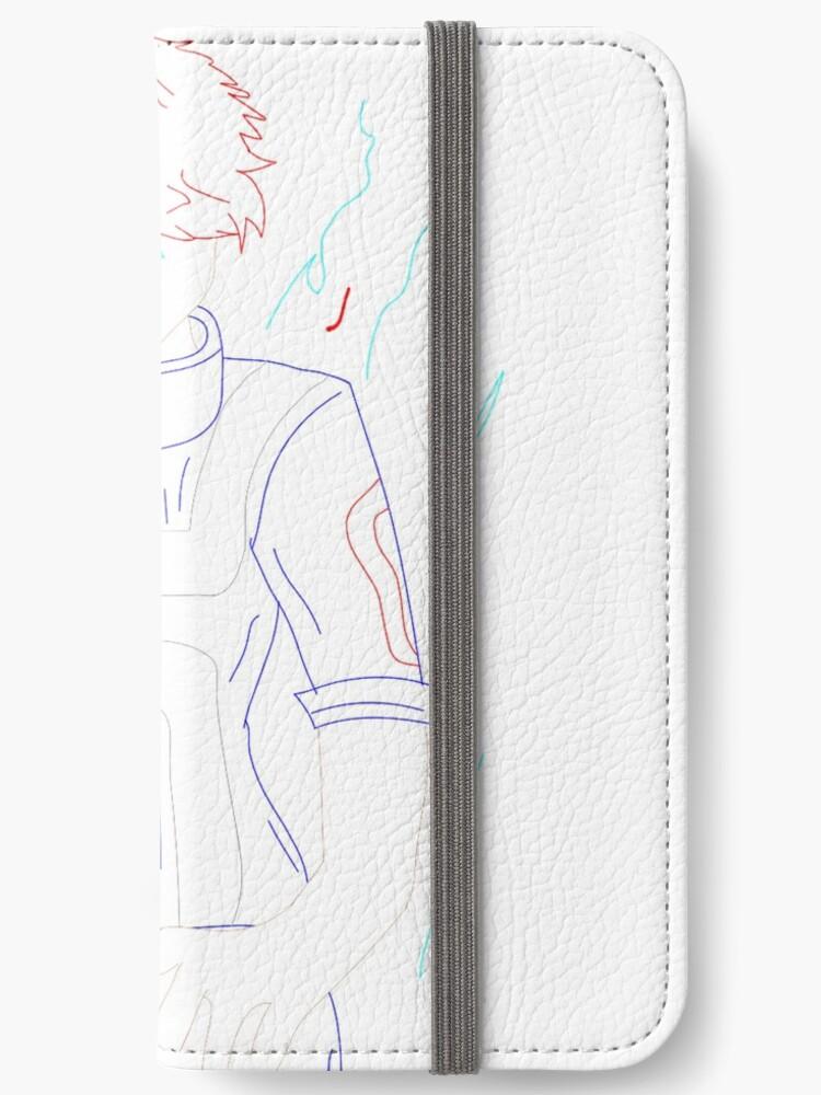 Shoto Todoroki Mha Line Drawing Iphone Wallet By Libbya2004