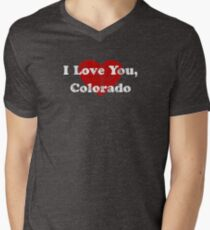 I Love You Colorado CO State Hometown Love Pride T-Shirt Men's V-Neck T-Shirt