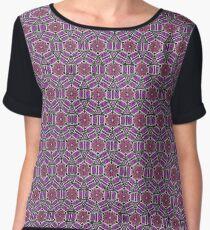 Hearts and Blocks geometric pattern purple, pink Chiffon Top