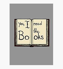 Yes, I read the books Photographic Print