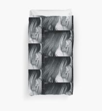 Winter Profile in Black & White Duvet Cover