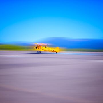 Just a Blur a two seater vintage airplane  by MarniePatchett