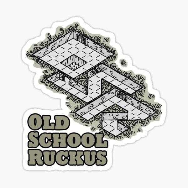 Old School Ruckus Sticker