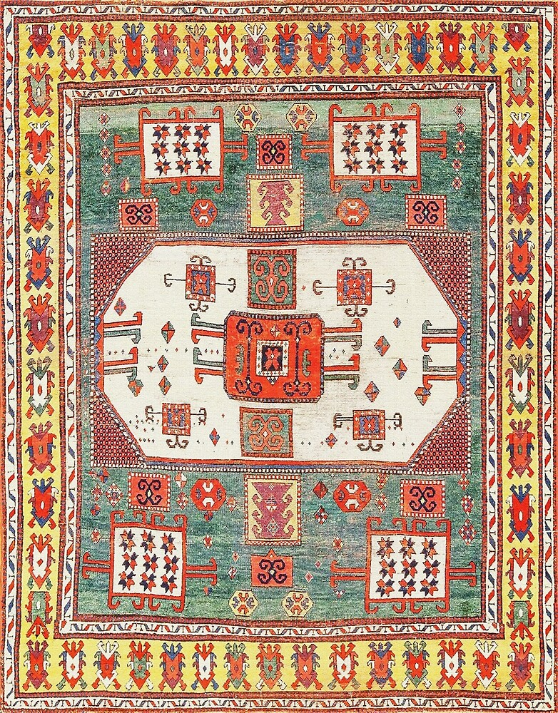 Antique Kazak Rug by Vicky Brago-Mitchell
