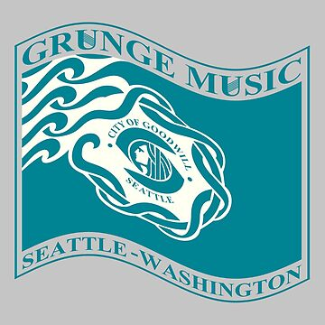 Grunge music seattle flag washington by barminam