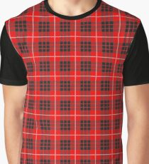 Scotland Woodcutter Buffalo Check Design - Red Color Model Graphic T-Shirt
