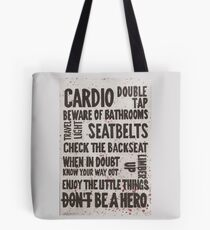 The Rules of Zombieland Tote Bag