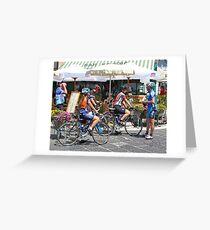 Amalfi Participants in the Giro de Italia Greeting Card