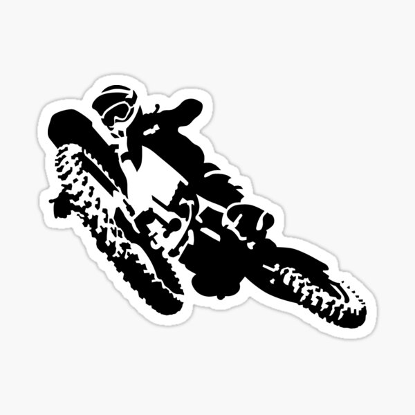 motocross Pegatina