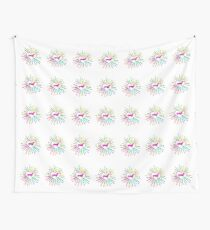 Colorful heart with dachshund pink Wall Tapestry
