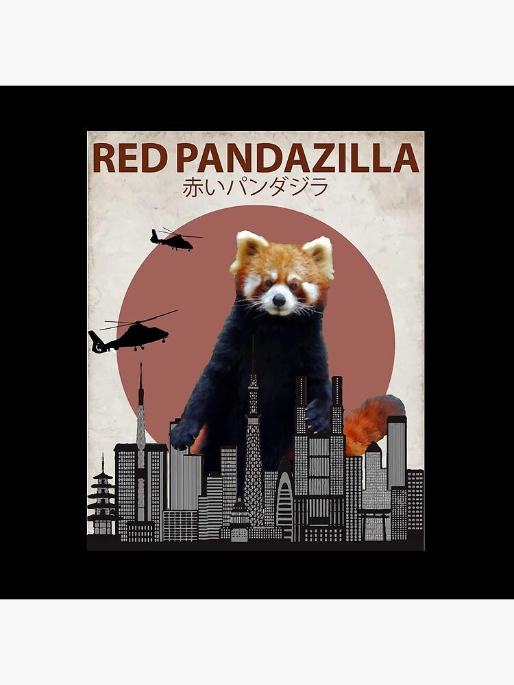 Red Pandazilla Red Panda Giant Monster Parody by Animalzilla