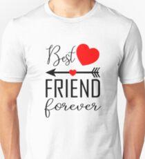 Best friend Forever Left Arrow Slim Fit T-Shirt