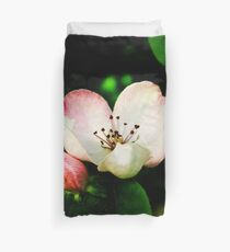 Quince Pink Flower and Bud Duvet Cover