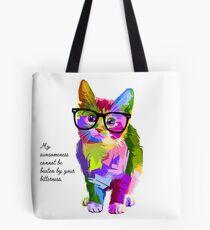 Hipster Kitten Cat Tote Bag