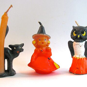 Vintage Halloween Candles by collageDP