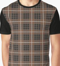 Scotland Woodcutter Buffalo Check Design - Brown Color Model Graphic T-Shirt