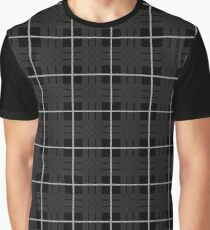 Scotland Woodcutter Buffalo Check Design - Black Color Model Graphic T-Shirt