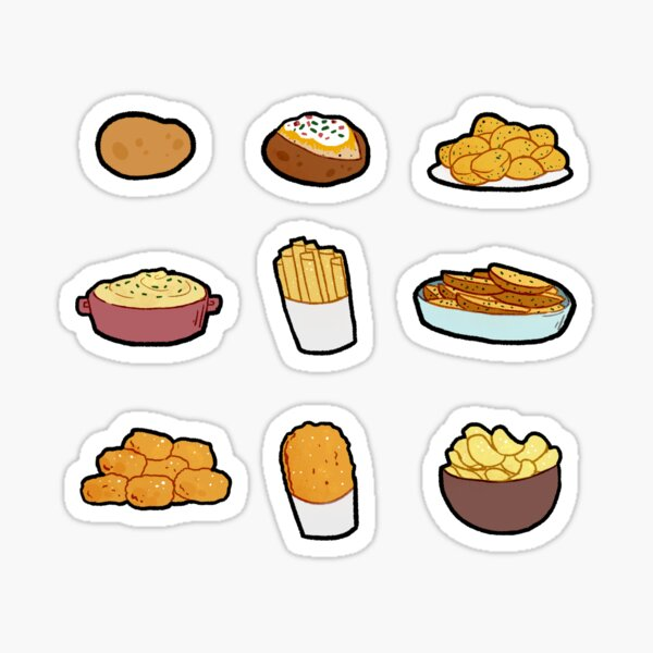 Potato Food Set Sticker