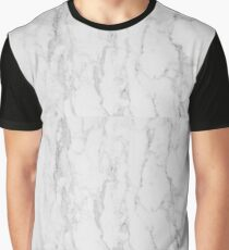 White Marble  Graphic T-Shirt