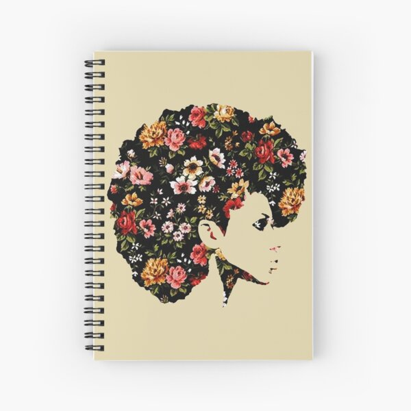 Floral Fro Spiral Notebook