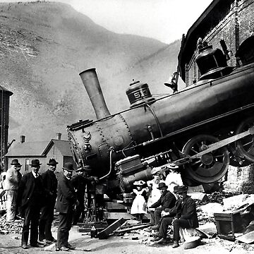 Roundhouse Locomotive Crash - Minturn - 1913 by warishellstore