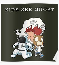 Kids See Ghost - Cartoon Poster