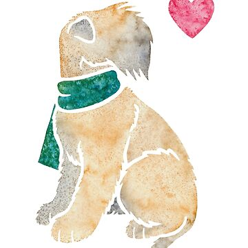 Watercolour Soft-coated Wheaten Terrier dog by animalartbyjess