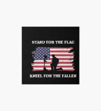 Stand For The Flag Kneel For The Fallen Art Board