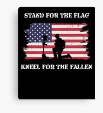 Stand For The Flag Kneel For The Fallen Canvas Print