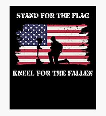 Stand For The Flag Kneel For The Fallen Photographic Print