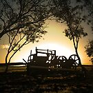 Old Time Hay Baler by Nathan  Johnson