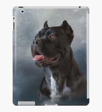 Drawing oil painting dog breed Cane Corso on old vintage grunge paper iPad Case/Skin