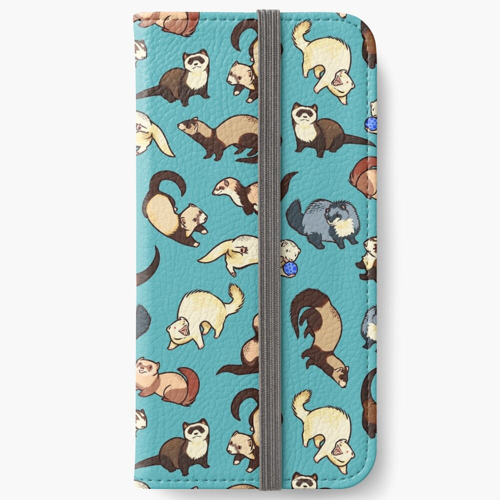 cat snakes in blue iPhone Wallet