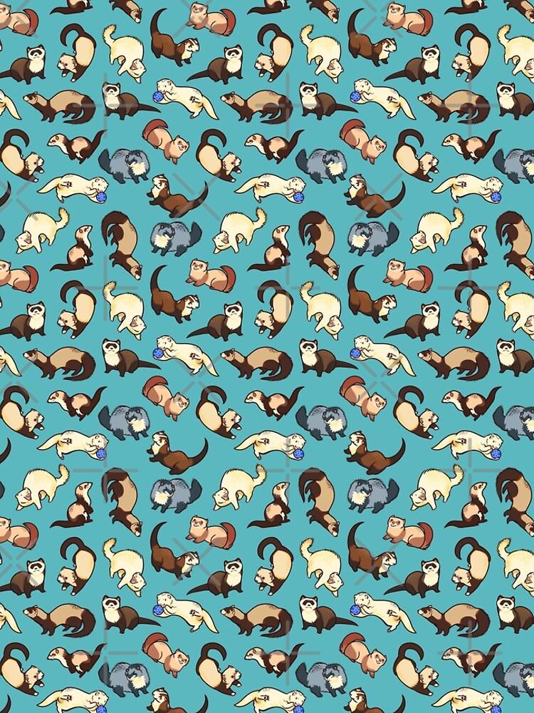 Katzenschlangen in blau von Colordrilos