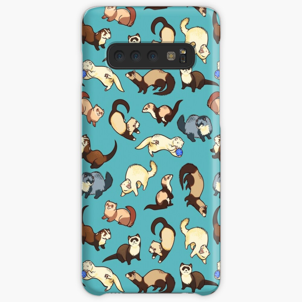 cat snakes in blue Case & Skin for Samsung Galaxy