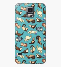 cat snakes in blue Case/Skin for Samsung Galaxy