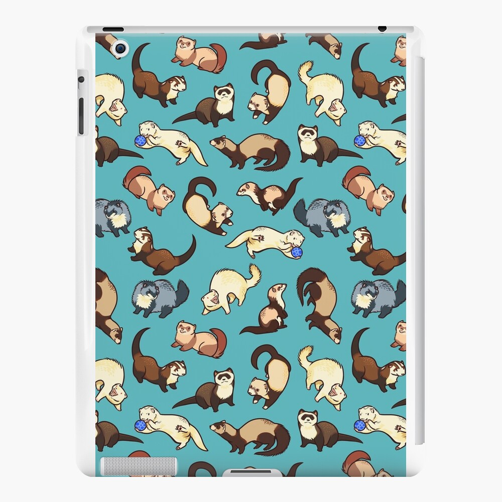 cat snakes in blue iPad Cases & Skins
