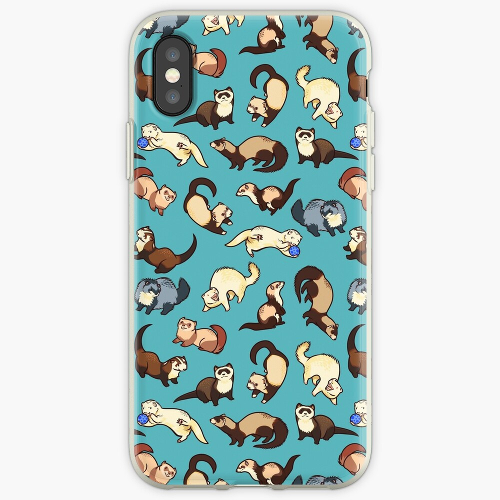 cat snakes in blue iPhone Cases & Covers
