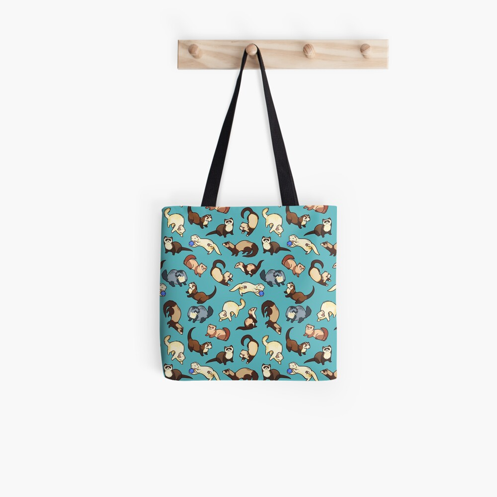 cat snakes in blue Tote Bag