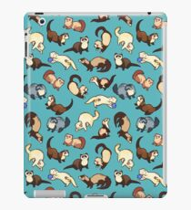 cat snakes in blue iPad Case/Skin