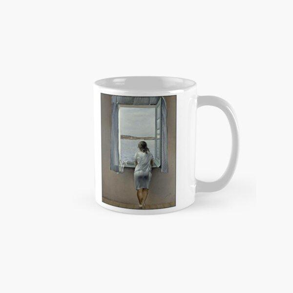 WOMAN IN THE WINDOW : Vintage 1925 Dali Painting Print Classic Mug