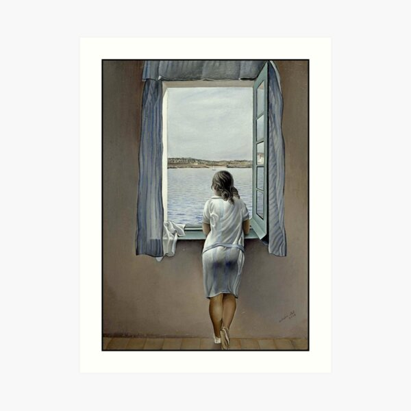 WOMAN IN THE WINDOW : Vintage 1925 Dali Painting Print Art Print