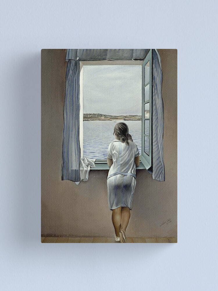 Alternate view of WOMAN IN THE WINDOW : Vintage 1925 Dali Painting Print Canvas Print