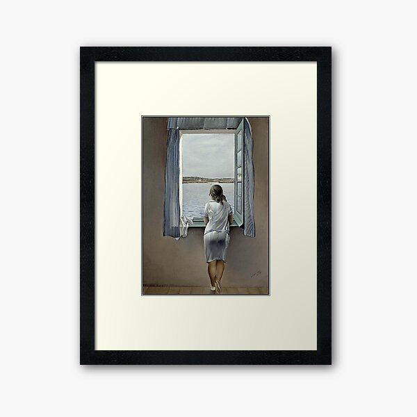 WOMAN IN THE WINDOW : Vintage 1925 Dali Painting Print Framed Art Print