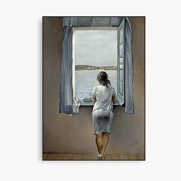 WOMAN IN THE WINDOW : Vintage 1925 Dali Painting Print Canvas Print