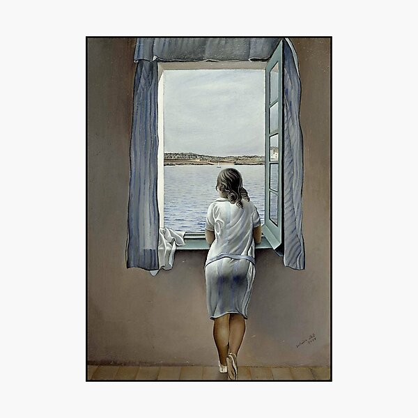 WOMAN IN THE WINDOW : Vintage 1925 Dali Painting Print Photographic Print