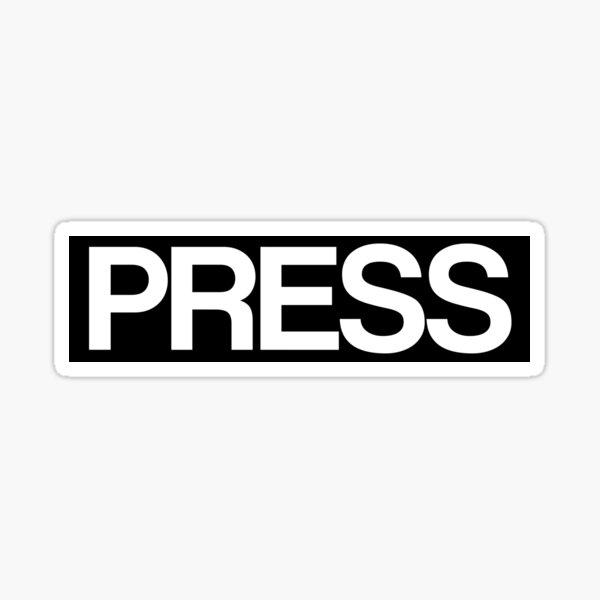 PRESS Sticker