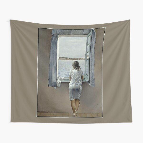 FEMME DANS LA FENÊTRE: impression de peinture Dali Vintage 1925 Tentures